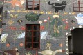 A mural covers a restored building in Nantou's old town, the focus of the Shenzhen half of the 10th Bi-city Biennale of Urbanism/Architecture. Photo: Enid Tsui