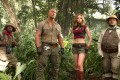 From left: Kevin Hart, Dwayne Johnson, Karen Gillan and Jack Black in Jumanji: Welcome to the Jungle (category: IIA), directed by Jake Kasdan.
