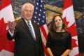 US Secretary of State Rex Tillerson and Canada's foreign minister Chrystia Freeland, after they announced a crisis meeting of foreign ministers on January 16 over the North Korea nuclear crisis. Photo: Bloomberg