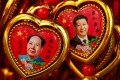 Portraits of President Xi Jinping and Mao Zedong feature on souvenirs on display at a shop near the Forbidden City in Beijing last year. Photo: Reuters