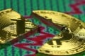 Broken representation of the bitcoin virtual currency. Goldman Sachs is planning to open a trading desk for cryptocurrencies, including bitcoin. Photo: Reuters