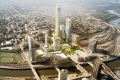 A rendering of the Schuylkill Yards mixed-use development in Philadelphia. Photo: Shop/West 8