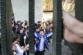 University students attend an anti-government protest inside Tehran University. Photo: AP