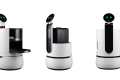 The three new concept robots from LG Electronics are aimed at the services industry, in areas like hotels, airports and supermarkets. Photo: Source: LG Electronics