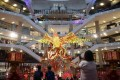 A shopping mall in Kuala Lumpur is decked out in Lunar New Year decorations. Photo: AFP