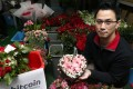 Leslie Wu Wai-leung, director of Hong Kong Flower Delivery, one of the first businesses in the city to accept payments using bitcoin. The company has seen a dozen transactions since 2014 using the digital currency. Photo: SCMP