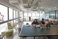 The interior of Desk-one, a co-working space in Hong Kong's Causeway Bay district. Research has shown that such spaces can cost three times less than conventional rents in the city. Photo: Nora Tam
