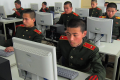 File photo of students at the Mangyongdae Revolutionary School, in Pyongyang, North Korea, work on computers. Photo: AP