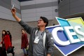 Vivo showcased its new fingerprint scan smartphone at CES in Las Vegas on Tuesday. Photo: Reuters