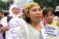 Indonesian women demonstrate against polygamy in Jakarta. Photo: AFP