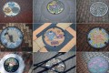 Designer manhole covers from different cities in Japan. Photo: AFP