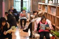 People read books at a reading centre in Hefei, capital of east China's Anhui Province. Photo: Xinhua