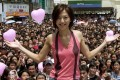 Stefanie Sun at a street concert in Taipei back in 2001. Photo: Reuters