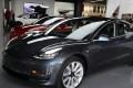 A Tesla Model 3 is seen in a showroom in Los Angeles. Photo: Reuters