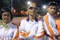 Blind runners Kong Kwok-lin, Gary Leung Siu-wai and Chu Kin-wa pose for a portrait at the Sham Shui Po Sports Ground. Photo: K.Y. Cheng