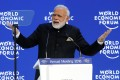 India's Prime Minister Narendra Modi addresses the World Economic Forum annual meeting in Davos, Switzerland. Photo: Reuters
