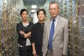Vera Sung (left), Jill Sung and their father, Thomas Sung, in the safety deposit box area of Abacus Federal Savings Bank in New York's Chinatown. A documentary about their legal battle against the US government is in the running for an Oscar. Photo: Sean Lyness, courtesy Kartemquin Films.