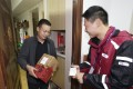 Twelve minutes and 18 seconds was all it took for the first delivery from Singles' Day to arrive at the doorstep of a resident surnamed Liu in Shanghai, according to Alibaba. Photo: Cainiao Logistics