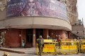 Security personnel stand guard outside a theatre after the release of Bollywood movie 'Padmaavat' in New Delhi, India, on January 25, 2018. Photo: Reuters