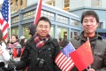 Chinese students and local residents greet then president Hu Jintao during his visit to the US in 2011. Photo: Ng Tze-wei