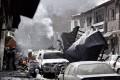 The scene of the suicide bomb attack in Kabul. Photo: EPA