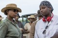 Mary J. Blige (left) and Mudbound director Dee Rees on the set of the film. The singer has been nominated for an Oscar for best supporting actress and best original song for her work on Mudbound. Photo: Steve Dietl/Netflix