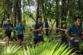 Athletes on a training run from the Thanyapura Olympic village in Phuket, Thailand.