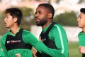 Beijing Guoan have declined to confirm Cedric Bakambu's reported signing – despite releasing a photo of what looks like the Congolese striker training with the club. Photo: AFP