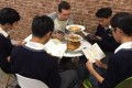 A cafe-themed reading workshop for secondary students in Hong Kong. Photo: HKSKH Bishop Hall Secondary School