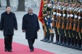 President Xi Jinping and Djibouti's President Ismail Omar Guelleh in Beijing in November. Photo: Reuters