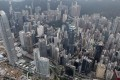 Aerial view of office buildings in the Central district in Hong Kong, as of 30th, May 2012. Photo: SCMP