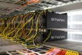 Bitcoin mining computers are pictured in Bitmain's mining farm near Keflavik, Iceland, in 2016. Photo: Reuters