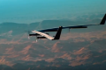 Facebook's internet-beaming solar powered aircraft takes flight over Yuma, Arizona. Photo: Facebook