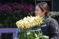 Florists are not hopeful that they will do well at the festive fairs ahead of the Lunar New Year. Photo: Edward Wong
