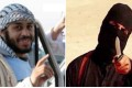 Alexanda Kotey (left) and a scene from an Islamic State beheading video in which a man believed to be fellow Britin Mohammed Emwazi, nicknamed Jihadi John wields a knife. Photos: Agence France-Presse and Supplied