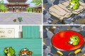 Scenes from the hit smartphone game Tabi Kaeru, or Travel Frog. The idea for the game came from Mayuko Uemura, a 26-year-old employee of developer Hit-Point, who has never written a line of computer code. Photo: cnfol.hk