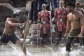 Wakanda rules … Chadwick Boseman, left, and Michael B Jordan face off in Black Panther. Photo: Moviestore/Rex/Shutterstock