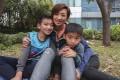 Javis Leung; his mother Lena Tsang and brother Daniel Leung. Photo: Jonathan Wong