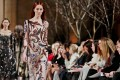 Tree branch-like embroidery featured in the Oscar de la Renta collection at New York Fashion Week. Photo: AP