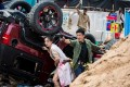 Celina Jade (left) and Wu Jing in Wolf Warrior 2.
