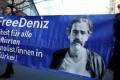 Protesters support arrested German-Turkish journalist Deniz Yucel in Berlin, Germany. Photo: Reuters