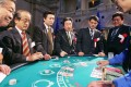File photo of Japanese politicians a trial run of a casino hosted by the Japan Casino Dealers Association. Photo: AFP