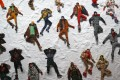 Creations from Moncler's autumn/winter 2018 collection at Milan Fashion Week. Photo: Tony Gentile/Reuters