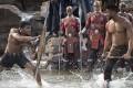 Black Panther (Chadwick Boseman, left) and Erik Killmonger (Michael B. Jordan) in Black Panther. Photo: TNS