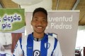 Hong Kong's Brian Fok poses after signing for Uruguayan second tier side Juventud. Photos: GH Kee