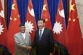 President Xi Jinping and new Nepalese Prime Minister Khadga Prasad Sharma Oli. Photo: AFP