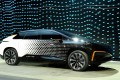 Faraday Future's FF 91 prototype electric crossover vehicle is unveiled at CES 2017 in Las Vegas on January 3. Photo: AFP