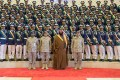 Saudi Arabia's Defence Minister, Crown Prince Mohammed bin Salman, poses during the graduation ceremony of the 93rd batch of the cadets of King Faisal Air Academy, in Riyadh, on February 21. Photo: Reuters