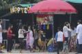 Liu's BBQ stalls at Shek O Beach on Saturday. Photo: Xiaomei Chen