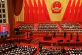 Chinese Premier Li Keqiang delivers his annual government work report at the opening meeting of the first session of the 13th National People's Congress at the Great Hall of the People in Beijing on Monday. Photo: Reuters